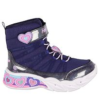 Skechers Boots - Girls Sweetheart Lights - Navy Lavender w. Ligh