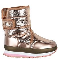 Rubber Duck Winter Boots - Cracked Metallic - Rose Gold