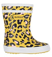 Aigle Rubber Boots - Baby Flac - Leopard