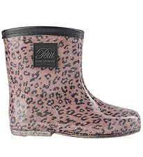 Petit by Sofie Schnoor Rubber Boots w. Lining - Rose Leopard