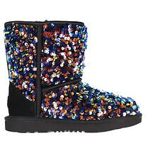 UGG Boots - Classic ll Stellar Sequin - Black w. Sequins