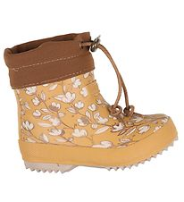 Bisgaard Thermo Boots - Low - Mustard w. Flowers