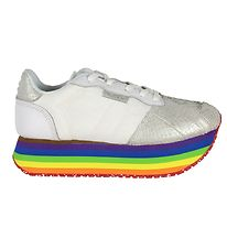 Woden Shoes - Alison - Bright White Rainbow