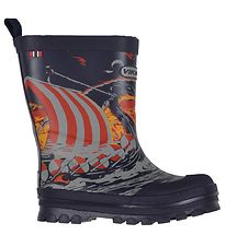 Viking Rubber Boots - Jolly Viking Wolf - Navy