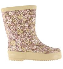 Wheat Rubber Boots - Alpha - Rose Flowers