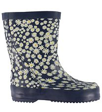 Wheat Rubber Boots - Alpha - Ink Flowers