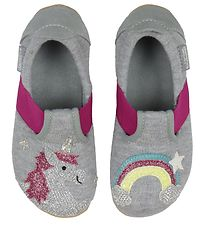 Livings Kitzbühel Slippers - Light Grey w. Rainbow/Unicorn