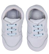 BOSS Soft Sole Leather Shoes - Pale Blue