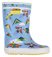 Aigle Rubber Boots - Lolly Pop - Light Blue w. Kites