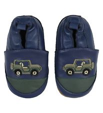 Melton Soft Sole Leather Shoes - Navy w. Jeep