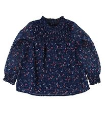 Creamie Blouse - Navy w. Flowers