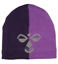 Hummel Hat - HMLStark - Wool/Polyester - Purple Striped