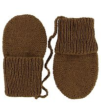 Huttelihut Mittens - Knitted - Wool - Brown