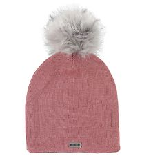 Racing Kids Hat w. Pom-Pom - Wool/Cotton - Rose