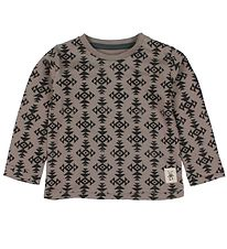 Small Rags Blouse - Brown w. Print