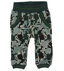 Small Rags Sweatpants - Blue/Green Camouflage