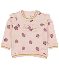 Small Rags Sweatshirt - Rose w. Flowers