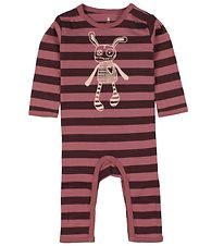 Small Rags Coverall - Purple Striped w. Mr. Rags