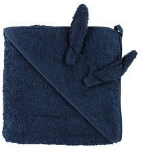 Pippi Hooded Towel - 83x83 - Navy