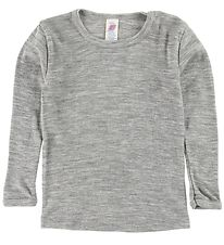 Engel Blouse - Wool/Silk - Grey Melange