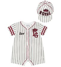 Dolce & Gabbana Summer Romper w. Cap - White Striped