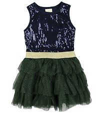 En Fant Dress - Navy w. Sequins/Tulle