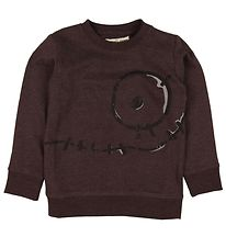 Small Rags Sweatshirt - Purple Melange w. Print