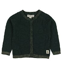 Small Rags Cardigan - Knitted - Dark w. Gold