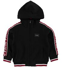 Dolce & Gabbana Zip Thru Hoodie - Black w. Bordeaux