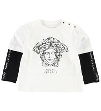 Young Versace Blouse - Ivory/Black w. Medusa