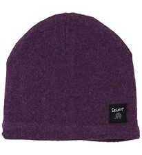CeLaVi Hat - Wool/Cotton Knit - Purple Melange