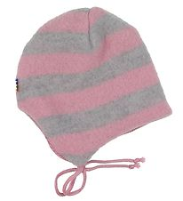Joha Baby Hat - Wool - Grey/Rose