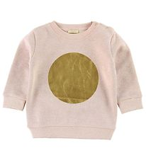 Minipop Sweatshirt - Powder w. Circle Gold
