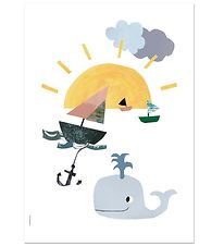 I Love My Type Poster - A3 - Happy Animals - Sunny At Sea