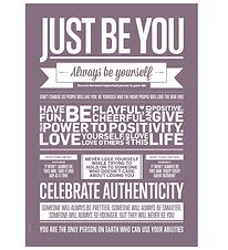 I Love My Type Poster - 50x70 - Just Be You - Violet