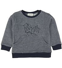 Fixoni Sweatshirt - Soft Blue w. Leaves