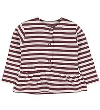 Fixoni Cardigan - Plum/Striped