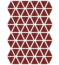 ferm Living Wallstickers - Triangle - Red