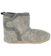 CeLaVi Slippers - Wool - Grey w. Lining