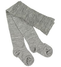 Smallstuff Tights - Wool - Grey Melange w. Glitter