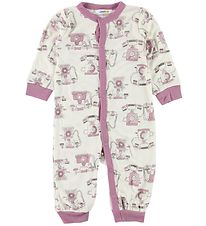 Joha Night Suit - Bamboo - White w. Phones