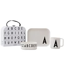 Design Letters Dinner Set - Classic In A Suitcase - A