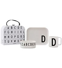 Design Letters Dinner Set - Classic In A Suitcase - D