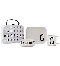 Design Letters Dinner Set - Classic In A Suitcase - G