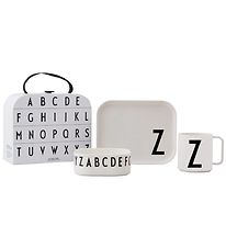 Design Letters Dinner Set - Classic In A Suitcase - Z