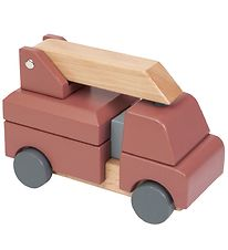Sebra Toy - Fire Truck - Wood/Red