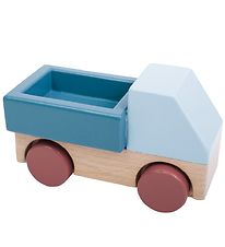 Sebra Toy - Truck - Wood/Blue