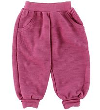 Joha Trousers - Wool - Fuchsia w. Structure