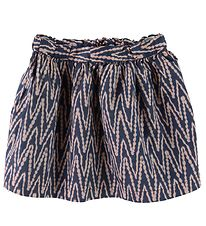 Noa Noa Miniature Skirt - Dusty Blue/Rose Pattern