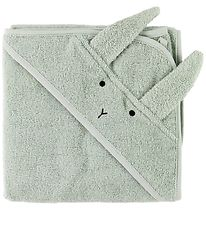 Liewood Hooded Towel - Mint w. Rabbit - 70x70